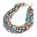 Buy Women's Girls' Choker Necklaces Layered Strands Resin Alloy Unique Design Acrylic Friendship Classic Elegant Durable