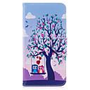 ieftine Carcase iPhone-Maska Pentru Apple iPhone 7 Plus iPhone 7 Titluar Card Portofel Cu Stand Întoarce Model Carcasă Telefon Copac Bufniţă Greu PU piele pentru