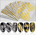 baratos Maquiagem & Produtos para Unhas-1 pcs Decalques de unha Etiquetas e Fitas Nail Art Design