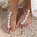 voordelige iPhone-hoesjes-Parel Blote voeten sandalen - Imitatieparel Drop Modieus Goud / Zilver Voor Dagelijks / Causaal / Dames / Strass