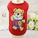 voordelige Hondenkleding & -accessoires-Kat Hond T-shirt Gilet Hondenkleding dier Rood Blauw Roze Katoen Kostuum Voor Lente & Herfst Zomer Heren Dames Casual / Dagelijks