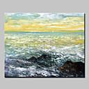お買い得  ヘッドセット、ヘッドホン-ハング塗装油絵 手描きの - 抽象的な風景画 抽象画 近代の インナーフレームなし