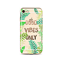 cheap iPhone Cases-Case For Apple iPhone X iPhone 8 Plus Transparent Pattern Back Cover Word / Phrase Tree Soft TPU for iPhone X iPhone 8 Plus iPhone 8