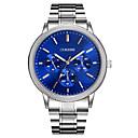 cheap Men's Watches-Men's Wrist Watch Quartz Large Dial Metal Alloy Band Analog Charm Luxury Casual Silver - White Black Blue