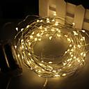 tanie Taśmy świetlne LED-3M Łańsuchy świetlne 30 SMD Diody LED Ciepła biel / Biały / Czerwony Wodoodporne 4.5 V / IP65