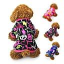 voordelige Hondenkleding & -accessoires-Kat Hond Jassen T-shirt Sweatshirt Hondenkleding Hart Zwart Fuchsia Blauw Fleece Kostuum Voor Lente & Herfst Winter Dames Feest Casual / Dagelijks Houd Warm