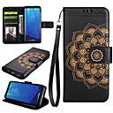 رخيصةأون حافظات / جرابات هواتف جالكسي S-غطاء من أجل Samsung Galaxy S8 Plus S8 حامل البطاقات محفظة مع حامل قلب غطاء كامل للجسم ماندالا نمط قاسي جلد PU إلى S8 Plus S8 S7 edge S7
