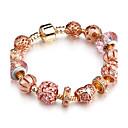 ieftine Brățări-Pentru femei Brățări cu Mărgele femei Modă Alamă Solidă Bijuterii brățară Roz auriu Pentru Petrecere Zi de Naștere Zilnice