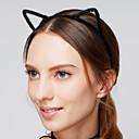hesapli Saç Takıları-Kadın's Saç Bandı / Vintage / sevimli Stil Arkilik / Kumaş Saç Bandı - Kürk, Kedi kulakları / Saç Bantları / Saç Bantları