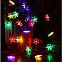 olcso LEDszalagfények-10 m Fényfüzérek 60 LED RGB Vízálló 220 V / IP65