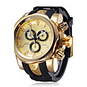 cheap Men's Watches-Men's Sport Watch Wrist Watch Quartz Water Resistant / Water Proof Chronograph Creative Leather Rubber Band Analog Charm Casual Fashion Black - Black Rose Gold Rose Gold / White One Year Battery Life