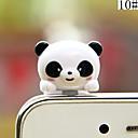 hesapli Cep Telefonu Süsleri-anti-toz fiş diy ayı karikatür oyuncak abs 3.5mm diy için iphone 8 7 samsung galaxy s8 s7