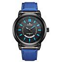 رخيصةأون أساور-رجالي ساعة رياضية ياباني كوارتز جلد طبيعي أسود / أزرق / أحمر 30 m رزنامه مماثل موضة - أصفر أحمر أزرق