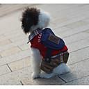 voordelige Hondenkleding & -accessoires-Hond Jumpsuits Hondenkleding Letter & Nummer Rood Groen Katoen Kostuum Voor Lente & Herfst Winter Casual / Dagelijks