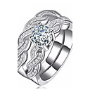 cheap Earrings-Women's Cubic Zirconia Ring - Zircon Infinity Fashion 6 / 7 / 8 / 9 / 10 Silver For Party Daily Casual