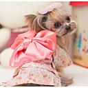 preiswerte Hundespielsachen-Hund Overall Hundekleidung Blumen / Pflanzen Schwarz / Rosa Baumwolle Kostüm Für Haustiere Frühling & Herbst / Sommer Herrn / Damen