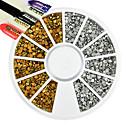 hesapli Makyaj ve Tırnak Bakımı-1 pcs Yenilikçi Takılar / Art Deco / Retro / Nail Jewelry pırıltılar / Sanatsal / Lüks Havalı / Sevimli Günlük Tırnak Tasarımı Tasarımı