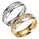 cheap Rings-Men's Band Ring / Eternity Ring - Stainless Steel Fashion 6 / 7 / 8 Gold / Silver For Daily