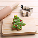 رخيصةأون أدوات الفرن-شجرة عيد الميلاد الصنوبر شكل قطع الكعكة قطع الفاكهة قوالب الفولاذ المقاوم للصدأ كعكة العفن