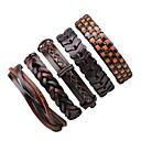 preiswerte Armbänder-Herrn Damen Wickelarmbänder Lederarmbänder - Leder Rockig Armbänder Braun Für Halloween Ausgehen