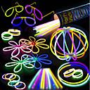 preiswerte Papier & Stoff-100 Glow Stick Party Pack - 100 gemischte Farbe 8 Premium Glowsticks mit Anschlüssen, um Armbänder Gläser Blumen Bälle und mehr machen -