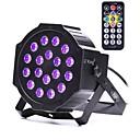 baratos Luzes LED de Cenário-U'King 18 W 18 Contas LED Luz de LED para Cenários Roxa 100-240 V / RoHs / CE / FCC
