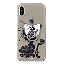 cheap iPhone Cases-Case For Apple iPhone X / iPhone 8 Ring Holder / Transparent / Pattern Back Cover Sexy Lady / Flower Soft TPU for iPhone X / iPhone 8 Plus / iPhone 8