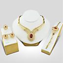 Χαμηλού Κόστους Σετ κοσμημάτων-Γυναικεία Cubic Zirconia Κοσμήματα Σετ - Cubic Zirconia, Επιχρυσωμένο Βίντατζ, Κομψό Περιλαμβάνω Κόκκινο Για Γάμου / Βραδινό Πάρτυ