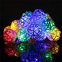 hesapli Fırın Araçları ve Gereçleri-HKV 4m Dizili Işıklar 20 LED'ler Sıcak Beyaz / RGB + Sıcak Uzaktan Kontrol / Renk Değiştiren 220-240 V 1pc