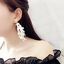 ieftine USB Flash Drives-Pentru femei Cercei Picătură Lung femei Ciucure Gotic Corean Modă cercei Bijuterii Alb / Negru Pentru Petrecere Zilnic