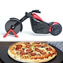 cheap Makeup & Nail Care-Motorcycle Pizza Cutter Stainless Steel Wheel Knife Bicycle Bike Roller Pizza Chopper Slicer Peel Knives
