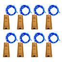 رخيصةأون مصابيح ليد ثنائية-BRELONG® 1M أضواء سلسلة 10 المصابيح أبيض دافئ / أبيض / أزرق ضد الماء <5 V 8PCS