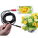 abordables Lampes Solaires LED-2 en 1 usb endoscope caméra 5.5mm lentille 5 m longueur rouge ip67 imperméable à l'eau d'inspection endoscope pour windows android snake