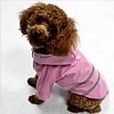 preiswerte Hundespielsachen-Katze Hund Mäntel Regenmantel Feuchtigkeitsbeständig/Wasserdicht Refklektierendes Band Hundekleidung Streifen Gelb Rot Blau Terylen Kostüm