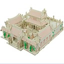 ieftine Ustensile & Gadget-uri de Copt-Puzzle 3D Puzzle Modele de Lemn Μοντέλα και κιτ δόμησης Case Modă Casă Templul Shaolin Clasic Modă Model nou Copii cald Vânzare Lemn 1pcs