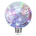 Χαμηλού Κόστους Λαμπτήρες LED σφαίρα-3 W LED Λάμπες Πυράκτωσης 250 lm E27 G95 33 LED χάντρες Ενσωματωμένο LED Έναστρος Μπλε Ροζ Πολύχρωμα 85-265 V, 1pc / RoHs
