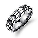 billige Ringer-Herre geometriske Band Ring Groove Rings Koreansk Mote Motering Smykker Sølv Til Daglig Formell 7 / 8 / 9 / 10 / 11
