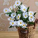 رخيصةأون أزهار اصطناعية-زهور اصطناعية 1 فرع النمط الرعوي الإقحوانات أزهار الطاولة
