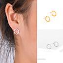 Χαμηλού Κόστους Σκουλαρίκια-Γυναικεία Κουμπωτά Σκουλαρίκια - Εξατομικευόμενο, Geometric, Μοντέρνα Χρυσό / Ασημένιο Για Καθημερινά / Causal