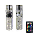 cheap Car Headlights-2pcs T10 Car Light Bulbs 1.5W SMD 5050 110lm 6 Turn Signal Light For universal