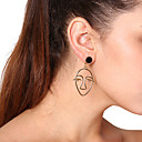olcso Divat nyaklánc-Női Függők Elöl is és hátul is stílusos fülbevalók Túlméretezett Fülbevaló Ékszerek Arany Kompatibilitás Parti Napi
