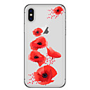 cheap iPhone Cases-Case For Apple iPhone X iPhone 8 Transparent Pattern Back Cover Flower Cartoon Soft TPU for iPhone X iPhone 8 Plus iPhone 8 iPhone 7 Plus