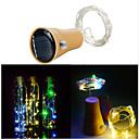 hesapli LED Şerit Işıklar-1m Dizili Işıklar 10 LED'ler SMD 0603 Sıcak Beyaz / Serin Beyaz Güneş Enerjisi / Su Geçirmez / Dekorotif Solární napájení 1pc