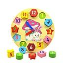 hesapli Kadın Saatleri-Ahşap Saat Oyuncağı Eğitici Oyuncak ahşap Eğitim Çocuklar için Genç Erkek Genç Kız Oyuncaklar Hediye