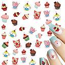 Недорогие Косметика и уход за ногтями-1pcs Наклейка для переноса воды / Наклейка для ногтей Наклейки для ногтей Дизайн ногтей