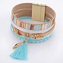 hesapli Kadın Saatleri-Kadın's Kristal Wrap Bilezikler - Kristal, Deri Damla Basit, Moda Bilezikler Mavi Uyumluluk Günlük