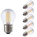 hesapli LED Küre Ampuller-GMY® 6pcs 3.5W 350lm E27 LED Filaman Ampuller P45 4 LED Boncuklar COB LED Işık Sıcak Beyaz 220-240V