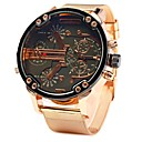 Недорогие Часы на металлическом ремешке-JUBAOLI Муж. Наручные часы Кварцевый Крупногабаритные Нержавеющая сталь Розовое золото Cool Крупный циферблат Аналоговый Светло-синий Желтый Зеленый