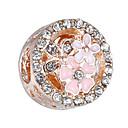 hesapli Boncuklar-DIY Mücevherat 10 adet Koraliki Yapay Elmas alaşım Gümüş Gül Altın Yuvarlak boncuk 0.45 cm DIY Kolyeler Bilezikler