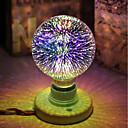 olcso LED gömbbúrás izzók-1db 5 W 450 lm E26 / E27 LED gömbbúrás izzók / Izzószálas LED lámpák G95 28 LED gyöngyök Integrált LED Dekoratív / Csillagos / 3D tűzijáték Multi-szín 85-265 V / RoHs